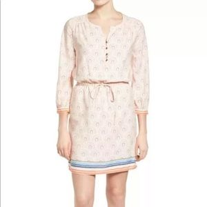 Caslon ivory coral printed dress small